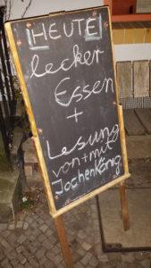 Lesung von und mit Jochen König